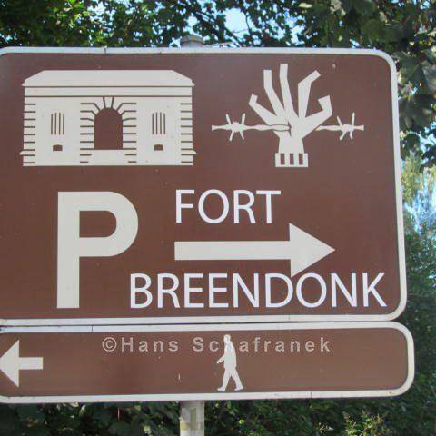 Hinweisschild Fort de Breendonk