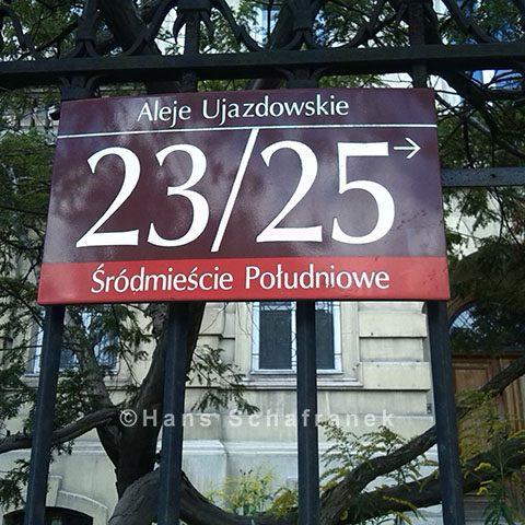 Eingang zum Leszyński-Palast