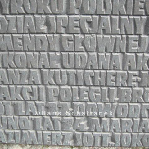 Details der Inschrift