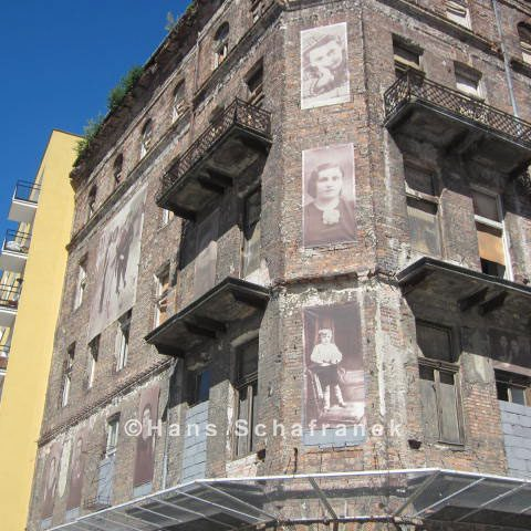 Gebäude des Warschauer Ghettos